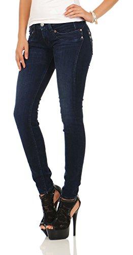 Herrlicher Damen Jeans Piper Slim Blau (deep 017)
