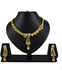 Pourni Exclusive Necklace Set With Earring Studded With Reverse AD Necklace Set - DLNK148