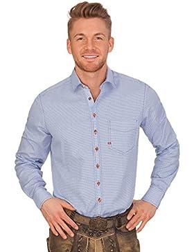 Trachtenhemd mit Langem Arm - Marinus - Blau