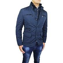 0d72292cc99426 Piumino Giacca Uomo Sartoriale Blu Slim Fit Casual Elegante Invernale con  Gilet Interno