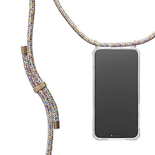 KNOK Case Handykette Kompatibel mit Apple iPhone X / XS - Silikon Hülle mit Kordel zum Umhängen