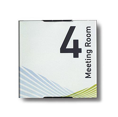Modulex Messenger 157x157mm Türschild E63500700 | Aluminium und Spritzguss Polycarbonat in Anthrazit | nicht-reflektierende Frontscheibe | Büroschild | Wandschild