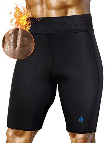 Männer Sauna Anzug heißer Schweiß Körper Gewicht Gym Shorts Neopren sportlich Yoga Shorts Training dünne Hosen für den Gewichtsverlust (Anzug Mann Körper)