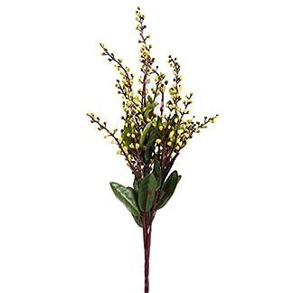L_shop – Planta Artificial de Acacia con Flores Decorativas para Sala de Estar, arreglos Falsos de Flores a Juego, Amarillo, As it is Description