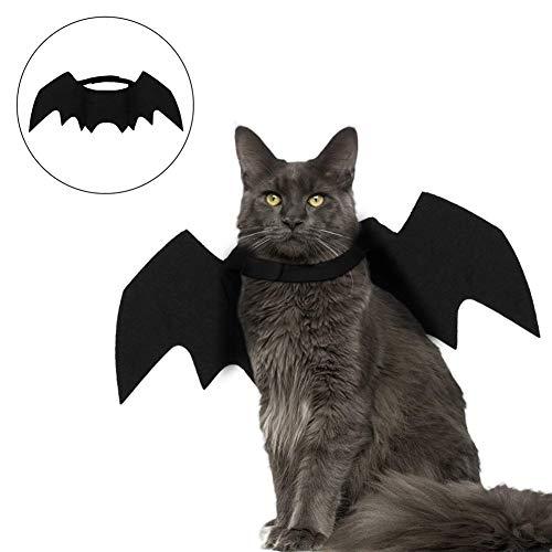 BETTERLE Katze Bat Wings, Katze Hund Bat Kostüm Pet Kostüm Katze Fledermausflügel für Party/Halloween