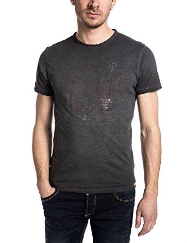 Timezone Herren T-Shirt Terencetz Schwarz (pirate black 9128)