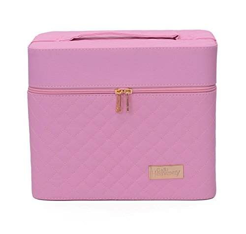 Store2508® Professional Beauty Make Up Case Nail Cosmetic Box Vanity Case (28 * 23 * 19 Cm) (Pink)