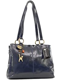 CATWALK COLLECTION - BELLSTONE - Bolso al hombro estilo shopper - Cuero vintage - Grande