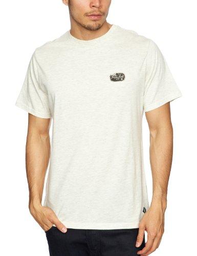 Iron Fist - Maglietta con stampa, colletto tondo, manica corta, uomo Bianco (Bone Heather) M