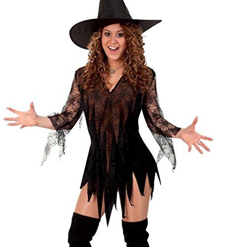 Damen-Kostüm Hexen Tunika Witch Zauberin sexy Kleid (38)