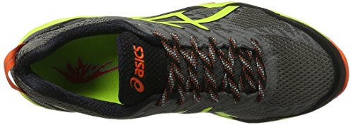 Asics Herren Gel-Fujitrabuco 5 Gtx Trail Running Schuhe Mehrfarbig (Shark / Safety Yellow / Black)