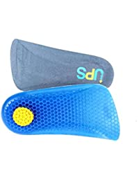 HealthPanion 1 Paire de Demi Semelle talonnette grandissante en gel silicone