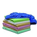 Home-Tex Kinderspannbettlaken Spannbetttuch 70 x 140 cm | Spannbettlaken für KINDER & BABY | ÖKO-TEX STANDARD GEPRÜFT | Matratzenbezug Kinderbett | Premium-Qualität pflegeleicht & waschbar (Blau)