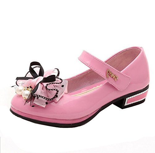 Scarpe da Bambina Ballerine Eleganti Fiocco con Tacco Mary Jane by Gaorui