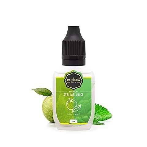 KNUQO STELLAR Juice 25ml - Apfel Minze-Geschmack   e-Zigarette   e Shisha eLiquid Flasche   Wiederaufladbare Elektronische Zigarette Liquid   Nikotinfrei   e Shisha   eShisha