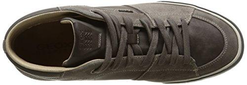 Geox U Smart A, Hombre Alto Sneaker Gris (gris)