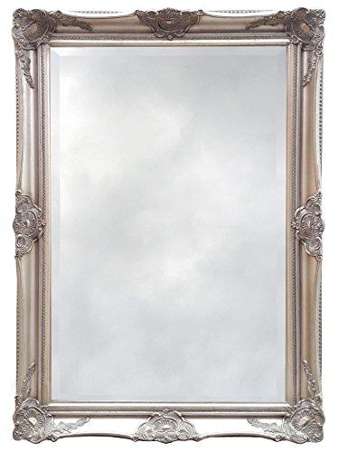 Artesano-Ornate-barroco-espejo-con-marco-plata