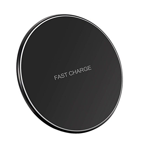 Holife Qi Ladestation, Wireless Charger 10W Induktions Ladegerät Kompatibel mit Samsung Galaxy S9/S8/S8 Plus/S8+/S7/S7 Edge/S6/S6 Edge, 7.5W Qi kabelloses Ladegerät für iPhone 8/8 Plus/X/XR/XS/XS MAX