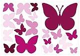 dekodino Adesivo murale farfalle orchidea camera ragazzo decoro set