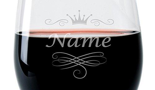 Leonardo-Weinglas-mit-Gravur-des-Namens-und-Motiv-Krone-Wein-Glas-graviert