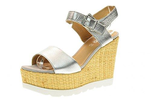 IGI&CO Sandales chaussures femmes avec coin 78694/00 Argent