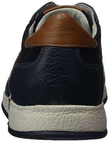 Sioux Herren Rodon Sneaker, Blau (Night/Cognac-Kombi)