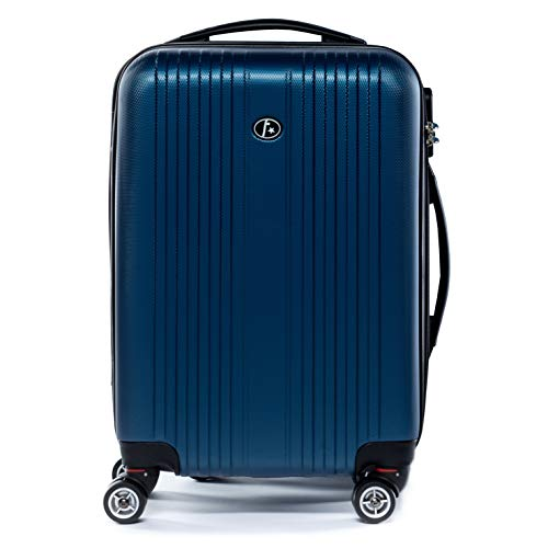 FERGÉ Handgepäck-Koffer Hartschale Toulouse Bordgepäck Rollkoffer 55 cm Reisekoffer Kabinen-Trolley 4 Rollen 100% ABS blau