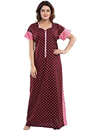 TUFAB Women s Cotton Fabric Beautiful Print Long Zip Pattern Nighty  Nightwear Nighties (Multipurpose d6a2a63d5