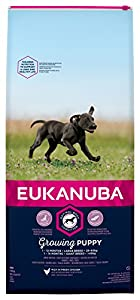 Eukanuba Puppy Dog Food For Large Dogs Rich In Fresh Chicken For the Optimal Body Condition of Your Dog 12kg