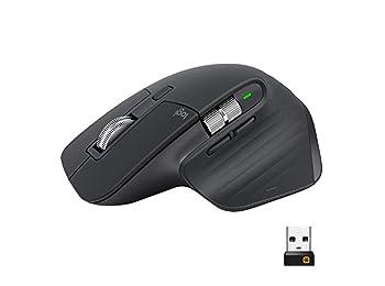 Logitech MX Master 3 Advanced Wireless Mouse, ultrafast Scrolling, use on Any Surface, Ergonomic, 4000 Dpi, Customisation, USB-C, Bluetooth, USB, Apple Mac, Microsoft PC Windows, Linux - Graphite