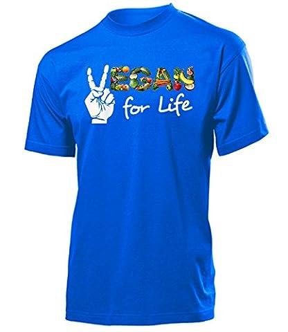 Vegan for Life 5399 Herren T-Shirt (H-B) Gr.