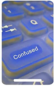 Transparent Keys White Back Cover Case for Google Nexus 7