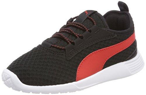 Puma Unisex-Kinder ST Trainer Evo v2 AC PS Sneaker, Schwarz Black-Flame Scarlet, 29 EU