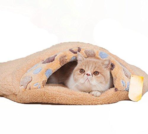 Schöne warme Hund Katze Schlafsack-Bett-Nest Haus Kennel Kitten Thermal Hiding (M   57x53x18cm)