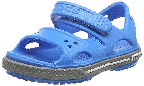 Crocs crocband ii kids, sandali con cinturino alla caviglia unisex-bambini, blu (ocean/smoke), 22/23 eu