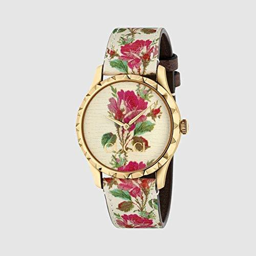 Reloj Gucci YA1264084 Beige Acero 316 L Mujer
