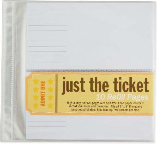 Just the Ticket Refill Sheets por Peter Pauper Press