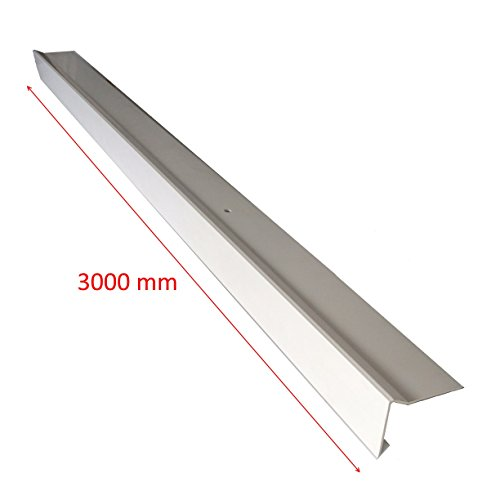 Dachrandprofil/Attikaprofil Fertiggarage, Winkelprofil, Dachumrandung, PVC, 3000 mm witterungsbeständig, farbecht, leichte Montage