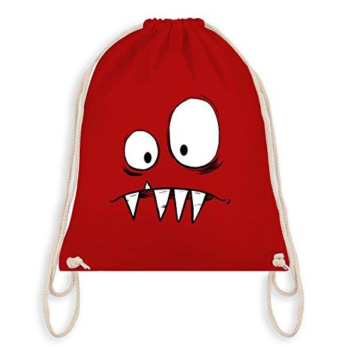 & Fasching - Monster Gesicht Kostüm 2 - Unisize - Rot - WM110 - Turnbeutel I Gym Bag (Roten Monster Kostüme)