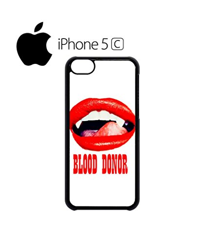 Blood Donor Sexy Red Lips Vampire Mobile Cell Phone Case Cover iPhone 5c Black Schwarz