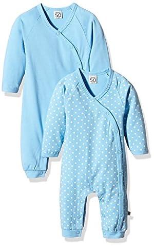 Care Baby-Jungen Spieler Bio Baumwolle im 2er Pack, Blau (Alaska Blau 733), 86