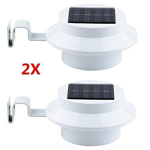 2 Stck 3 LED Solarbetrieben Energiesparend Zaun Dachrinne Licht Außen Garten Wand Lobby Pfad Lampe 100ma Flexible Solar Panel