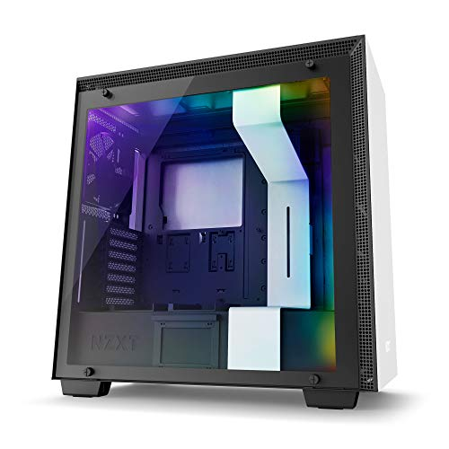 NZXT CA-H700W-WB H700i Mid Tower PC-Gehäuse, Weiß/Schwarz with Smart Device