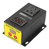 Regulador de voltaje SCR, Walfront AC 220 V 10000 W de alta precisión, regulador de voltaje electrónico de tiristor, control de atenuación de temperatura y velocidad
