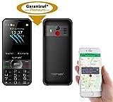 simvalley MOBILE Handy GPS: Komforthandy mit Garantruf Premium, XL-Farbdisplay, GPS-Tracking & App (Notrufhandy Senioren)