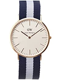Daniel Wellington Herren-Armbanduhr XL Glasgow Analog Quarz Nylon DW00100004