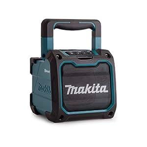 makita dmr200 kabelloser bluetooth lautsprecher blau schwarz mit usb anschluss. Black Bedroom Furniture Sets. Home Design Ideas
