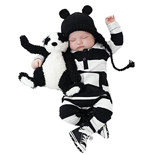Bekleidung Longra Säugling Baby Jungen Mädchen Baumwolle Strampler Overall Bodysuit Kleidung Outfit Babykleidung (0 -24 Monate) (70CM 6Monate)