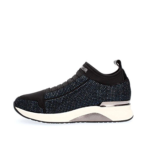 Sneakers Cafè Noir LDA932 scarpe donna in lycra e strass termosaldati Blu