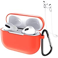 Soft Silicone Case for AirPods Pro 2019, Vintoney Full Protective Shockproof Cover with Keychain and Anti-lost Rope Kit, Compatible for Apple AirPods Pro (1970196)